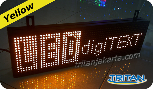 jual running text led display yellow kuning jakarta