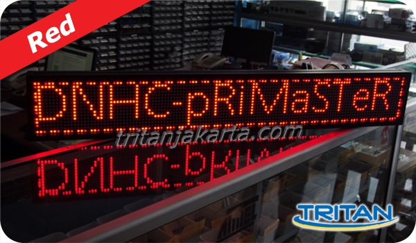 jual running text led display red merah jakarta